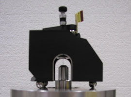 Closeup of the Gannen-XO on the calibration setup